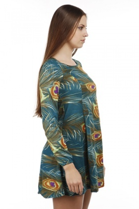 Peacock Fleece Dress