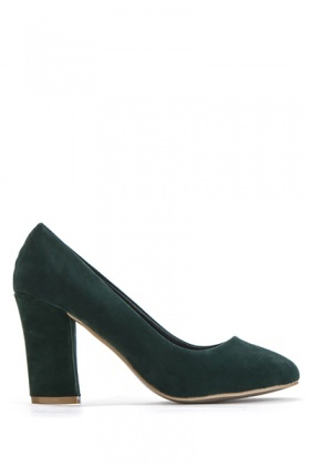 Velveteen Court Shoes