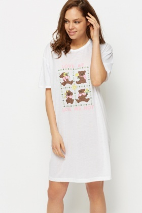 Love Me Printed Night Shirt
