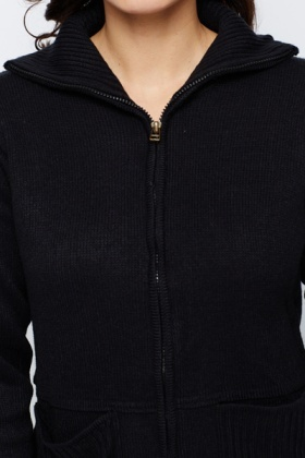 Pocket Front Zip Cardigan