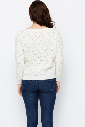 Perforated Pattern Pullover