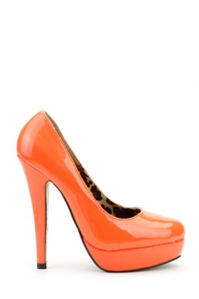 Patent PVC Platform Court Shoes