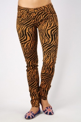 Tiger Print Trousers