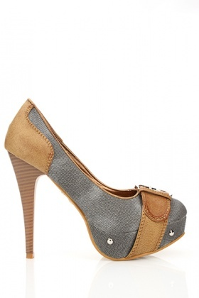 Buckle Toe & Studded Platform Shoes
