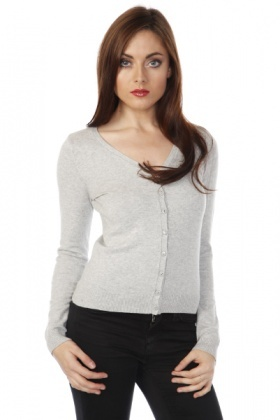 V-Neck Classic Cropped Cardigan