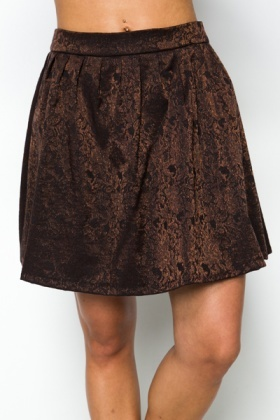 Jacquard Bronze Skirt