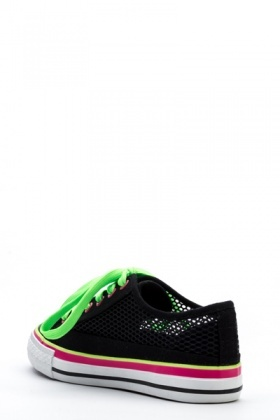 Mesh Colour Block Trainers