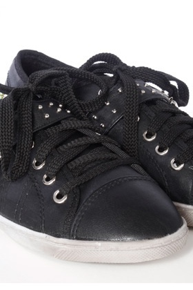 Studded Buckle Flat Trainers