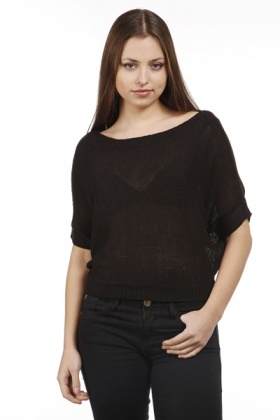 Knitted Batwing Sleeve Jumper