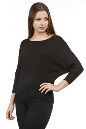 Embellished Knit Batwing Top