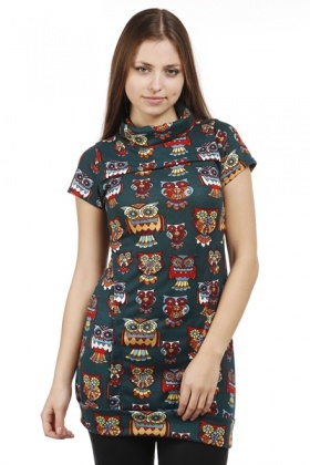 Owl Print Fleece Dress