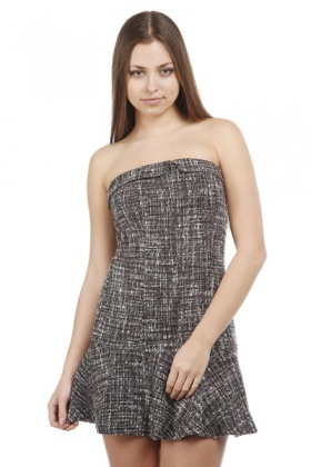 Speckled Knit Strapless Dress