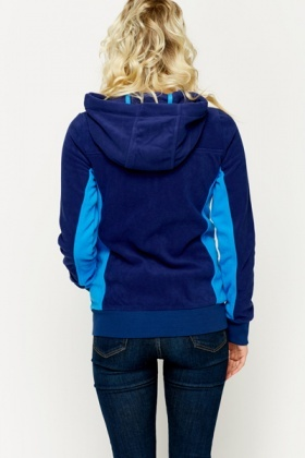 Two Tone Fleece Hooded Jacket
