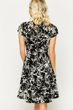 Frilled Ink Blot Dress