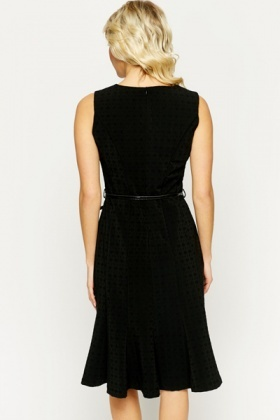 Textured Black Smart Dress