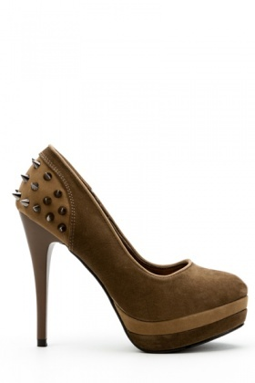 Spike Stud Two Tone Heels