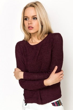 Open Knit Pullover