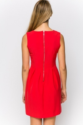 Zip Back Skater Dress