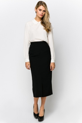 Smart Mid Length Skirt