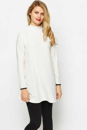 High Neck Oversized Top