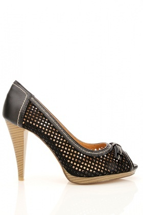 Stitch Detail Perforated Shoes
