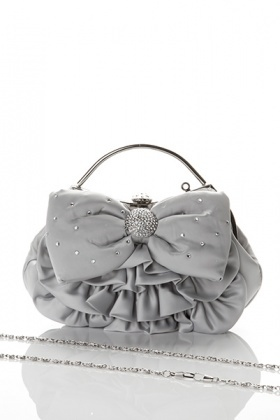 Encrusted Large Bow Bag