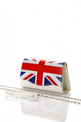 Union Jack Patent PVC Small Bag