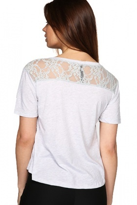 Lace Heart To The Front & Lace Shoulder Top