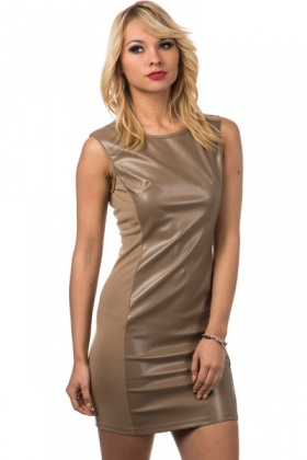 Faux Leather Bodycon Dress