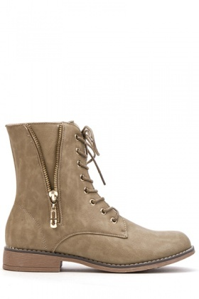 Zip Side Detail Boots