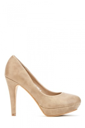 Classic Faux Leather Court Shoes