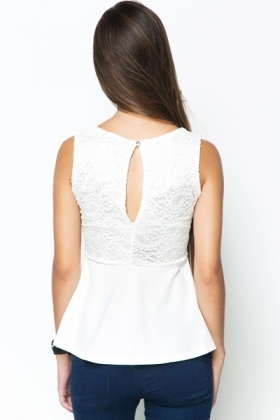 Classic Lace Textured Top