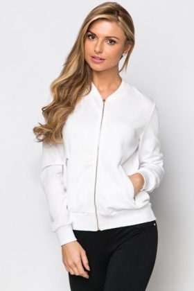 Embroidered Eye Back Bomber Jacket