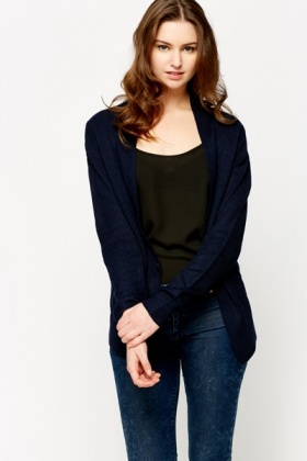 Buckle Front Cotton Cardigan
