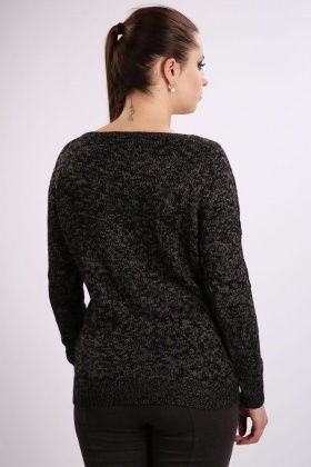 Casual Speckled Knit Pullover