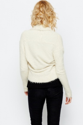 Open Front Eyelash Knit Cardigan