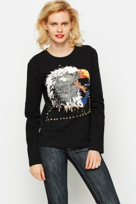 Embellished Eagle T-Shirt