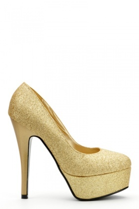 Shiny Glitter Platform Shoes