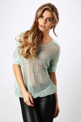 Metallic Holed Pullover