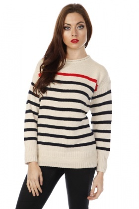 Chunky Knit Stripe Pullover