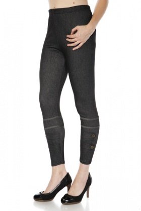 Button Tab Legs Jeggings