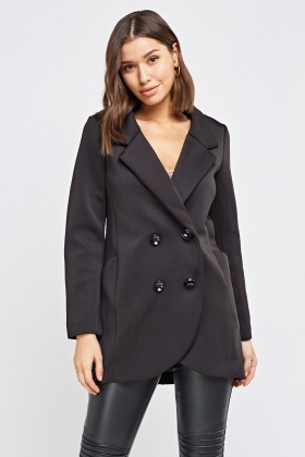 Double Breasted Black Pea Coat