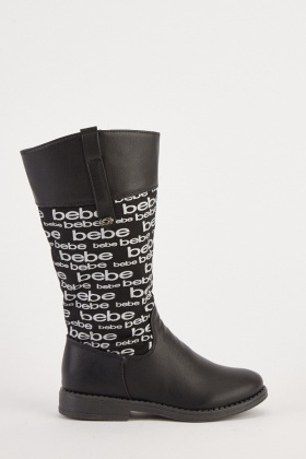 Kids Printed Knee High Boots