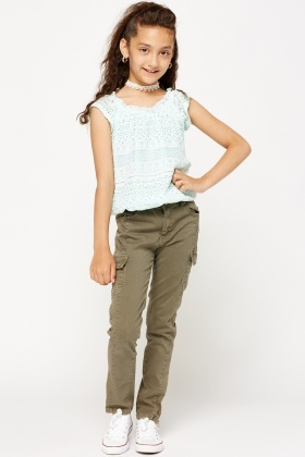 Cotton Girls Trousers