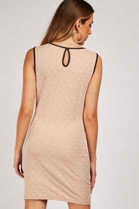 Sleeveless Textured Shift Dress