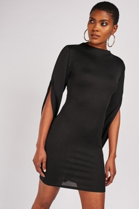 Contrasted Bodycon Dress