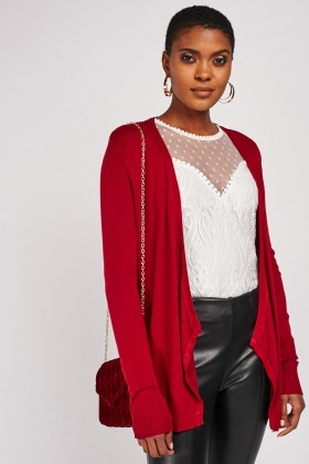 Slit Back Casual Cardigan