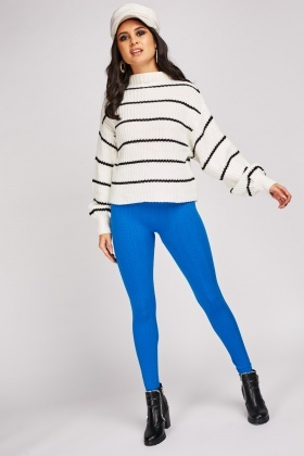 Plait Knitted Leggings