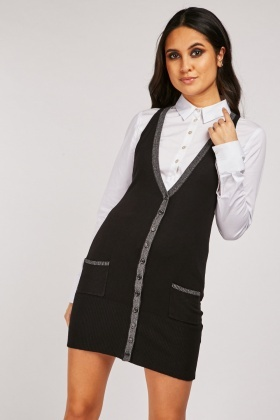 Sleeveless Metallic Knit Cardigan