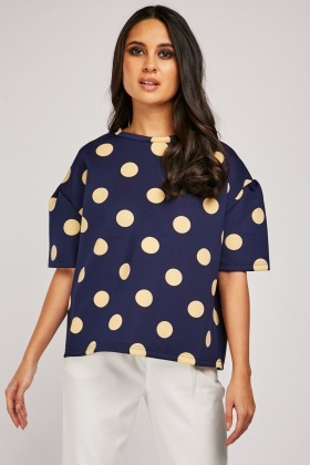 Polka Dot Scuba Top